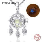 2018 Aliexpress silver 925 dreamcatcher glowing diy chain pendant&necklace European fashion <b>jewelry</b> <b>making</b> for lover gifts