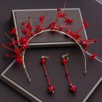 2pcs/set Women Headband <b>Jewelry</b> Set with Long Drop Earrings Simulated Pearls <b>Handmade</b> Headdress Ornament Costume Headpiece Gifts