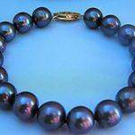 (Min Order1) 8-9MM AAA Tahitian Black Pearl Shell Bracelets Beads <b>Jewelry</b> <b>Making</b> Design Female Bracelet 7.5inch (Minimum Order1)