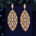 GODKI 75mm Luxury Trendy Fly Butterfly Design Full Mirco Paved Crystal Zircon Naija <b>Wedding</b> Drop Earring Fashion <b>Jewelry</b>