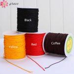 100yard/lots 1.5mm Weaving Thread Fadric Knot Knitting Rope Braided Diy Bracelet Necklace <b>Jewelry</b> Crafts <b>Making</b> Cord Materials