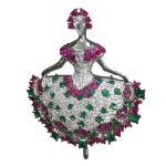 fairy dancer brooch pins 925 <b>sterling</b> <b>silver</b> with cubic zircon brooch and pendant double use women <b>jewelry</b>