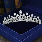 Tulip Cubic Zircon Tiara Full Zirconia Bride Crown Bridal Headpiece <b>Wedding</b> Hair Accessories Diadem <b>Jewelry</b> CZ Coroa WIGO1124