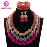 African Wedding Magnificent Crystal <b>Handmade</b> Mix Balls <b>Jewelry</b> Set Bridal Women Beads Necklace <b>Jewelry</b> Set Free Shipping ABH306