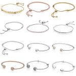 12 Style 925 Sterling <b>Silver</b> Open bangles and adjustable <b>bracelets</b> Heart Clasp Clip Fit Women <b>Bracelet</b> Bangles