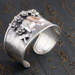 Deer king S925 sterling silver bracelet <b>jewelry</b> wholesale silver <b>jewelry</b> <b>handmade</b> Chiang Mai Thailand new female