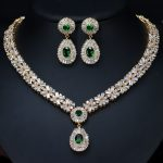 High quality green wedding <b>jewelry</b> sets for brides
