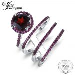 JewelryPalace Individual 3.2ct Genuine Garnet Wrap Ring S925 <b>Sterling</b> <b>Silver</b> <b>Jewelry</b> For Women Ring Anniversary Engagement Gift