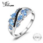 JewelryPalace Fashion 1.2ct Natural Black Spinel Blue Topaz Ring For Women Genuine 925 <b>Sterling</b> <b>Silver</b> 2018 Brand Fine <b>Jewelry</b>