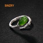 Sinzry <b>handmade</b> 925 sterling silver retro simple natural Jasper tulip rings lady fine <b>jewelry</b> Rings for Women gift