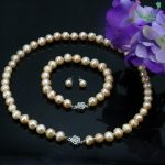 Pink pearl necklace sets flower clasp 8-9mm necklace 18″bracelet 7.5″ earring women <b>jewelry</b> <b>making</b> design gift Wholesale