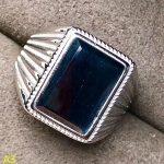 KJJEAXCMY Fine <b>jewelry</b> 925 pure <b>silver</b> jewellery box, natural sapphire male rings, big jewels