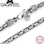 GAGAFEEL Vintage 925 <b>Sterling</b> <b>Silver</b> Chain Man Necklace Dragon Head Thai <b>Silver</b> Necklace for Men <b>Jewelry</b> Punk Style High Quality