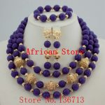 Nigerian Wedding African Beads <b>Jewelry</b> Set Blue African Costume <b>Jewelry</b> Sets Coral Beads <b>Necklace</b> Sets Free Shipping HD331-4
