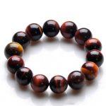 JoursNeige Natural Red Tiger Eye Stone Bracelet 14mm Beads Crystal Bracelet for Men Bracelet <b>Jewelry</b> <b>Accessories</b>
