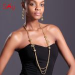 Sunny <b>Jewelry</b> African Beads Long Chain Earrings Women's <b>Jewelry</b> Sets High Quality Round Hollow Out For Party <b>Wedding</b> Anniversary