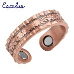 Escalus Ladies Gift <b>Antique</b> Copper Classic Fashion Magnetic Ring Resizable Female Magnets Women <b>Jewelry</b> Charm Finger Wear