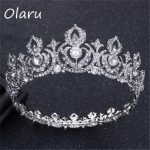 Olaru Good Quality Crystal Creative Queen Crown Tiara For Bride Fashion Luxury Extendy <b>Wedding</b> <b>Jewelry</b> Crown Headband Hot New