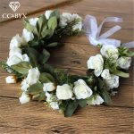 CC Flower Tiaras And Crowns Hairbands Double Layer Wedding Hair Accessories For Bridal Bridesmaids 100% <b>Handmade</b> <b>Jewelry</b> mq019