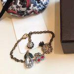 2018 New Brand Fashion <b>Jewelry</b> For Women Vintage Crystal Fruits Bangle Party Pineapple Cherry Pear Bracelet Yellow Brass <b>Jewelry</b>