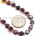 Gem-inside Natural Garnet Stone Beads <b>Handmade</b> Necklace Selectable Type 16inch DIY <b>Jewelry</b> Christmas Gift