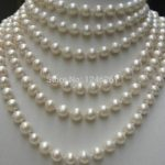 LONG AA+ 8-9MM White Akoya Cultured Pearl Shell Necklace Rope Chain Beads <b>Jewelry</b> <b>Making</b> Natural Stone 100inch (Minimum Order1)