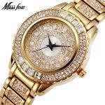 MISSFOX Miss Fox Brand Quartz Watch Women Luxury Gold Women Watches <b>Silver</b> Fashion Wrist Watches For Women Relogio Feminino