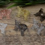 100pcs 26*36mm Butterfly Pad ring blank Cameo Tray,Bronze/Gold/Silver Ring setting,<b>Handmade</b> DIY Zakka <b>jewelry</b> Finding