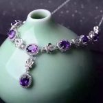Natural amethyst Necklace Natural crystal Pendant Necklace S925 sliver women Luxury trendy big Crown women party fine <b>Jewelry</b>
