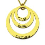 Wholesale Three Disc Necklace Gold Color <b>Handmade</b> Disc Necklace with Kids Name Personalized <b>Jewelry</b> for Moms Nameplate Necklace