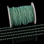 1-10meters Bulk 2x3mm Tiny Light Green Glass Faceted Rondelle Loose Beads Plated Brass Wire Wrapped Rosary Chains DIY Bracelet