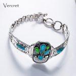 Vercret Vintage Silver 925 <b>Jewelry</b> <b>Native</b> <b>American</b> Bracelet for Men Women Cactus Adjustable Bohemian Bracelet <b>Jewelry</b> Gift
