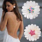 GODKI 31mm Elegant Shell Star Flower Blossom Fashion Cubic Zirconia Women Dress Engagement Party <b>Wedding</b> Bridal Earring <b>Jewelry</b>