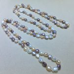 Irregular <b>handmade</b> woman pearls necklace freshwater pearls mixed colors length optional lady <b>jewelry</b> decor chains necklaces