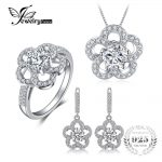 JewelryPalace Glint 4.7ct Cubic Zirconia Pendant Necklaces Drop Earrings Ring Fine <b>Jewelry</b> Sets 925 <b>Sterling</b> <b>Silver</b> 45cm Chain