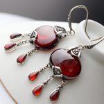 MetJakt Vintage Natural Garnet /agate Earrings Solid 925 <b>Sterling</b> <b>Silver</b> Drop Earrings for Women's Wedding Party Fine <b>Jewelry</b>