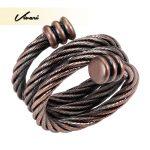 Vivari Trendy Ring <b>Antique</b> 100% Pure Copper Magnetic Ring For Women Female Magnets Women <b>Jewelry</b> Charm Finger Wear