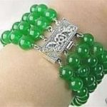 4 Rows 8mm green chalcedony round beads bracelet 7.5″ women <b>jewelry</b> <b>making</b> hot new fashion wholesale and retail