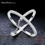 ANFASNI Newest Engagement Party Ring Pure 925 Sterling Silver <b>Jewelry</b> Brand New Fashion Line Ring For Women Ladies CGSRI0031-B