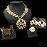 Yulaili Free Delivery 2017 Round Design Pure Rose <b>Silver</b> Gold Color Anniversary Jewelry Set Party Four Jewelry Sets
