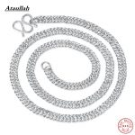 Fashion 120g Men and Women Genuine Solid 100% Pure <b>Silver</b> <b>Necklaces</b> S990 Sterling <b>Silver</b> <b>Necklace</b> Jewelry Ataullah NWP427