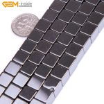 Gem-inside Natural Cube Magnetic Hematite Healing Stone Beads For <b>Jewelry</b> <b>Making</b> Bracelet Necklace 8mm 15inches DIY
