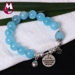 S925 Sterling <b>Silver</b> <b>Bracelet</b> For Women Natural Stone Amethyst Beads <b>Bracelets</b> & Bangles Crysral Gemstone Jewelry YB56