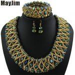 Statement necklace 2018 fashion <b>jewelry</b> sets <b>Handmade</b> beads chain crystal dubai <b>jewelry</b> sets Vintage beads Bijoux Accessories