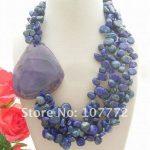 Beautiful! Natural Lapis & onyx <b>Necklace</b>