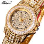 MISSFOX Miss Fox Brand Women Watches <b>Silver</b> Quartz <b>Bracelet</b> Ladies Watch Stainless Steel Gold Watch Women Relogio Feminino