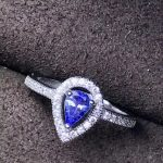 Natural blue tanzanite Ring Natural gemstone delicate water droplets ring 925 sterling <b>silver</b> women's girl gift fine <b>Jewelry</b>