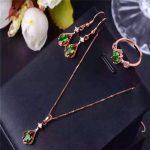 Natural diopside set inlaid <b>jewelry</b> wholesale S925 <b>silver</b> <b>sterling</b> <b>silver</b> <b>jewelry</b> <b>jewelry</b> free shipping