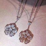 Brand Pure 925 Sterling <b>Silver</b> Jewelry For Women Rose Gold Fan Flower Rose Pendant <b>Silver</b> Fan Design <b>Necklace</b> Diva Dream Pendant