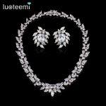 LUOTEEMI <b>Necklace</b>/ Earrings Set Elegant CZ Stone <b>Jewelry</b> Set for Wedding Bride Party Top Quality <b>Jewelry</b>